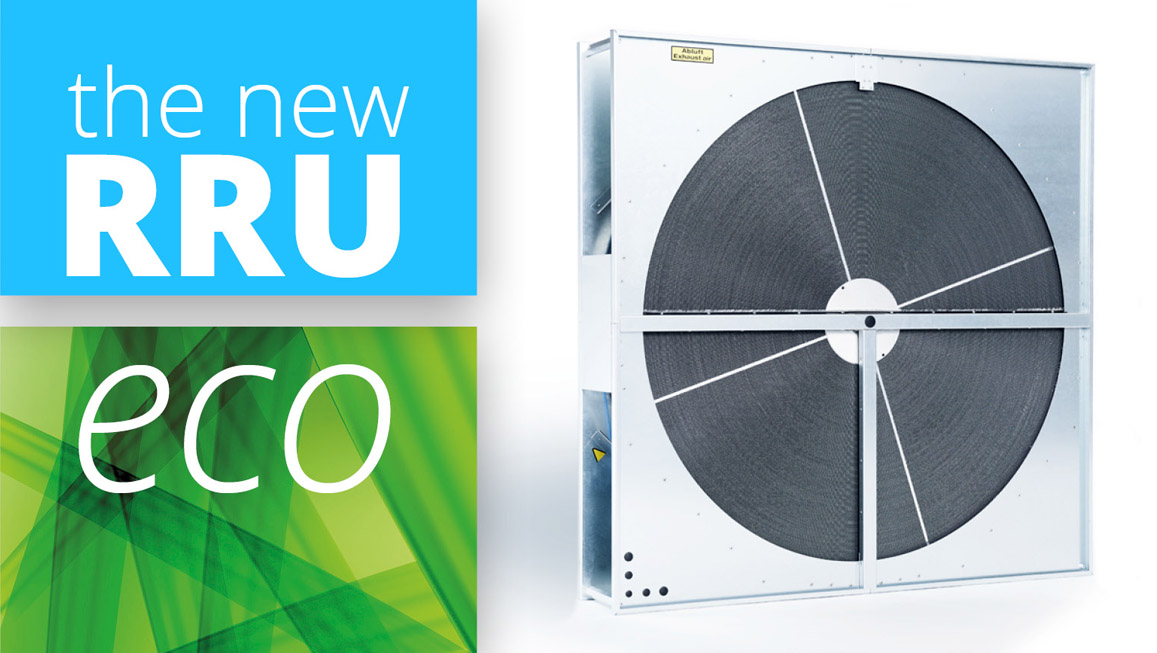 The new RRU eco rotary heat exchanger